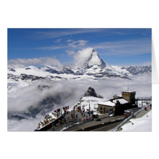 Matterhorn mountain and Gornergrat station Card