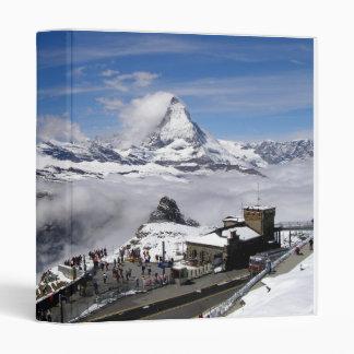 Matterhorn mountain and Gornergrat station Vinyl Binders