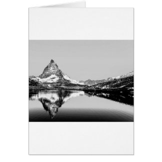 Matterhorn mountain black and white landscape card