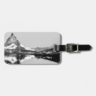 Matterhorn mountain black and white landscape luggage tag