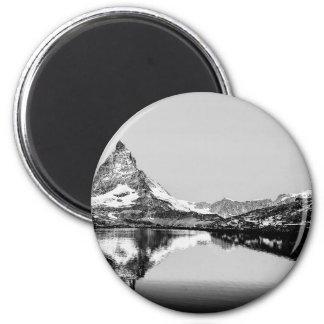 Matterhorn mountain black and white landscape magnet