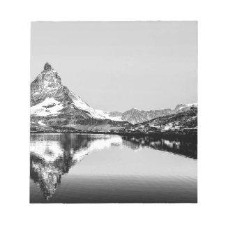 Matterhorn mountain black and white landscape notepad