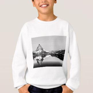 Matterhorn mountain black and white landscape sweatshirt