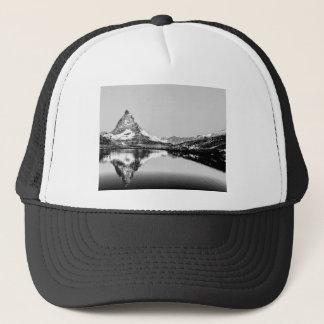 Matterhorn mountain black and white landscape trucker hat