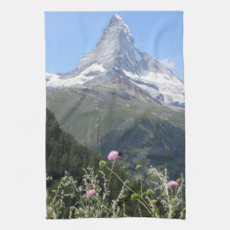 Matterhorn Mountain photo Towels