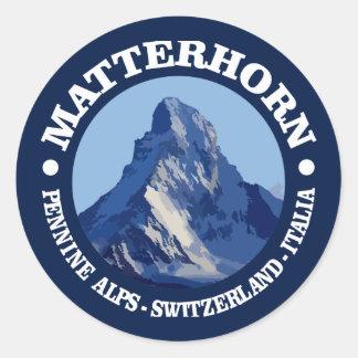 Matterhorn (rd) classic round sticker