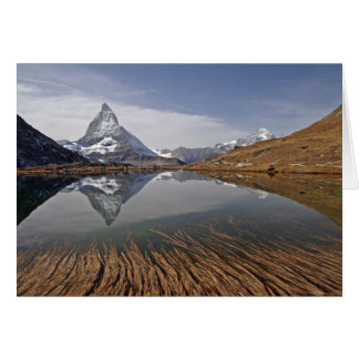 Matterhorn' reflection in the Riff... Card