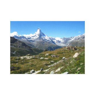 Matterhorn, Swiss Alps Wrapped Canvas