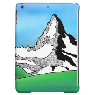 Matterhorn Switzerland Line art watercolor iPad Air Cases