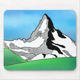Matterhorn Switzerland Line art watercolor Mouse Pad