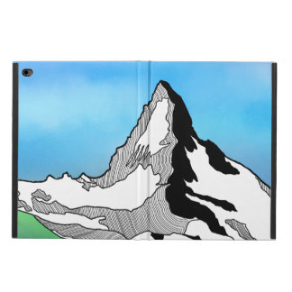 Matterhorn Switzerland Line art watercolor Powis iPad Air 2 Case
