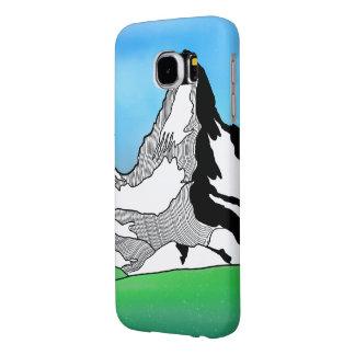 Matterhorn Switzerland Line art watercolor Samsung Galaxy S6 Case