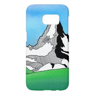 Matterhorn Switzerland Line art watercolor Samsung Galaxy S7 Case