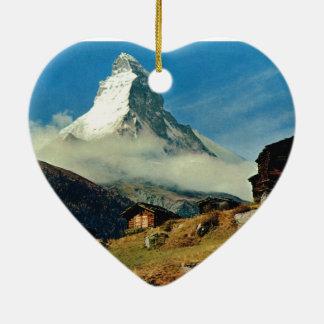 Matterhorn, Zermatt, Switzerland Ceramic Ornament