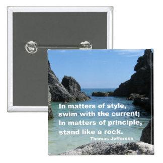 Matters of principle... 2 inch square button
