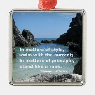 Matters of principle... metal ornament