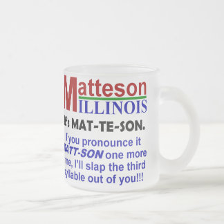 Matteson, Illinois Frosted Glass Coffee Mug