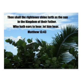 Matthew 13:43 postcard