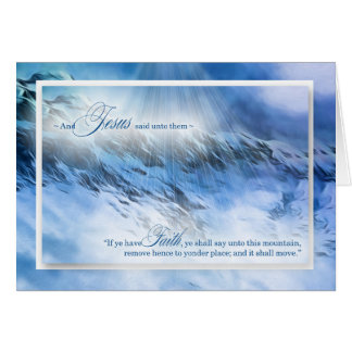Matthew 17:20 Nothing is Impossible Blue Mountains Card