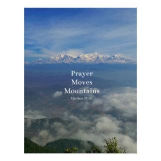 Matthew 17:20 Prayer Moves Mountains Custom Letterhead