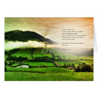 Matthew 17:30 Bible Verse Greeting Card Editable
