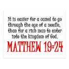 Matthew 19:24 postcard