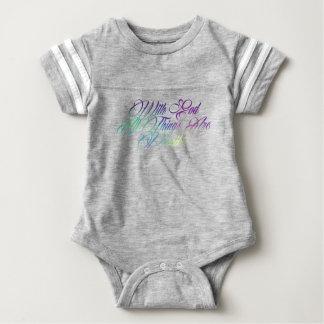 Matthew 19:26 baby bodysuit