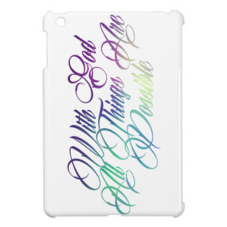 Matthew 19:26 case for the iPad mini