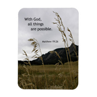 Matthew 19:26 With God, all things are possible Rectangular Photo Magnet