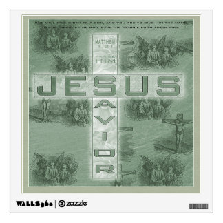 Matthew 1:21 Christian Square Wall Decal