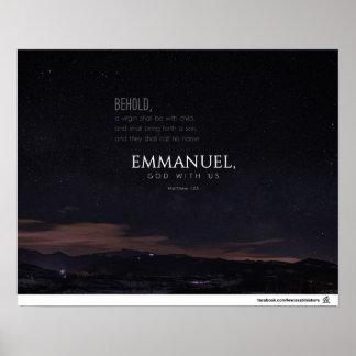 Matthew 1:23 - Emmanuel Poster