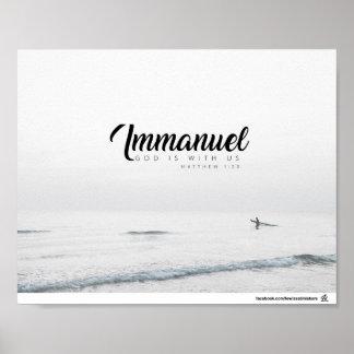 Matthew 1:23 - Immanuel Poster