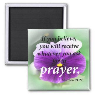 Matthew 21:22 magnet