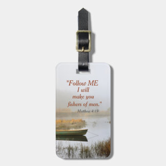 Matthew 4:19 Bible Verse Fishers of Men, Custom Luggage Tag