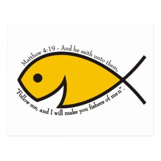 Matthew 4:19 Fishers Of Men  Graphic Postcard