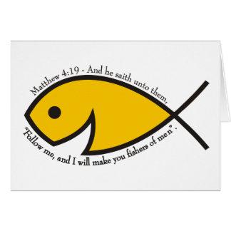 Matthew 4:19 Fishers Of Men Greeting Card