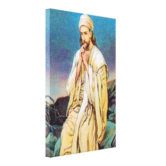 Matthew 4:1-11 Satan Tempts Jesus Wrapped Canvas Stretched Canvas Print
