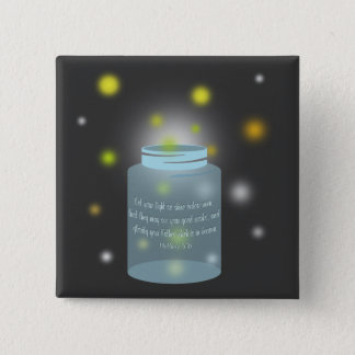 Matthew 5:16 Bible Verse Fireflies Button