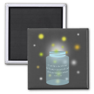 Matthew 5:16 Bible Verse Fireflies Magnet