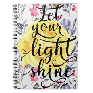 MATTHEW 5 16 LET YOUR LIGHT SHINE NOTEBOOK