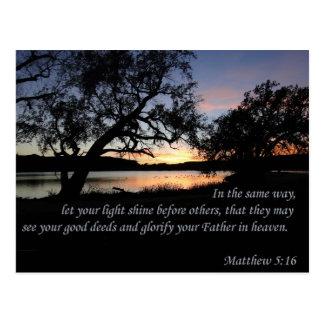 Matthew 5:16 Let Your Light Shine Postcard
