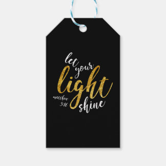 Matthew 5:16 - Shine Your Light Gift Tags