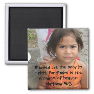 Matthew 5:3 square magnet