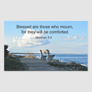 Matthew 5:4 Blessed are those who mourn, for.... Sticker