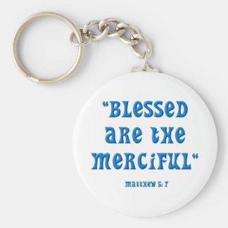 Matthew 5: 7 keychain