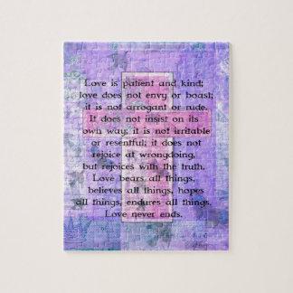 Matthew 5:8 Beautiful Bible Verse with Cross Jigsaw Puzzle