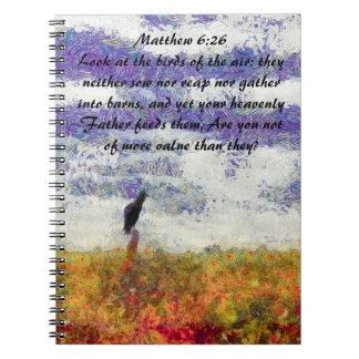 matthew 6:26 notebooks