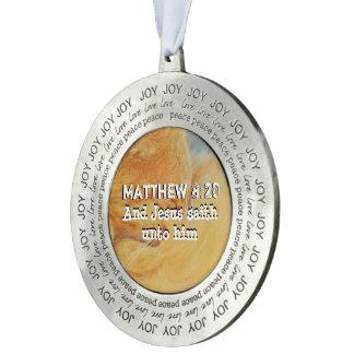 Matthew 8 : 20 pewter ornament