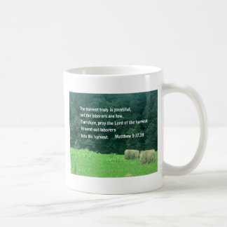 Matthew 9:37,38 coffee mug