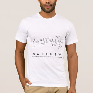Matthew peptide name shirt